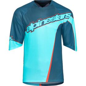 Alpinestars Crest Koszulka z jerseyu z rękawem 3/4 Mężczyźni, poseidon blue/atoll blue
